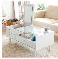 Modern Toughened Glass Tea Table The Multifunctional Creative Process Small Family Tea Table