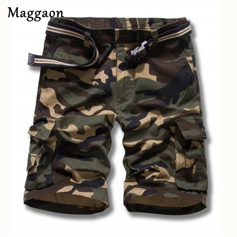 2018 Brand New men summer military shorts male fashion baggy cargo shorts camoufalge Tactical Men Cotton Loose Work Casual Short