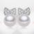 2016 100% natural água doce da pérola brincos para as mulheres 925 jóias de prata esterlina parafuso prisioneiro earrings7-8mm rodada presente de alta qualidade