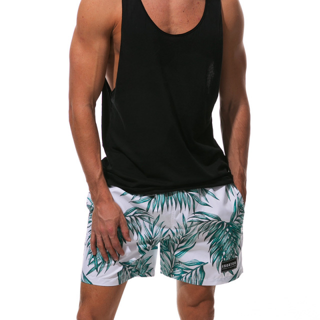 2018 Fashion Mens Board Shorts Summer Quick Dry Beach Shorts Casual Shorts Men Print Comfortable Board shorts Plus Size
