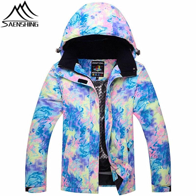 цена на SAENSHING New Ski Jacket Women Winter Thicken Snowboard Jacket Outdoor Sports Snow Jackets Waterproof Windproof Hooded Jackets