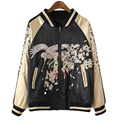 Two Side Wear Phoenix Bird Flowers Luxury Embroidered Jacket Women Street wear Spring Jacket Outwear Golden Coat SS591