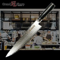 8 Damascus Chef Knife Kitchen Knive Japan vg 10 Steel Damask G10 Handle professional cooking meat cutting cleaver fish fillet