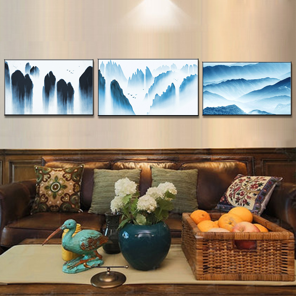 Unframed 3 HD Canvas Prints Mountain Peak Cloud Sea Giclee Wall Decor Living Room Decoration Mural Module Art Spray Painting