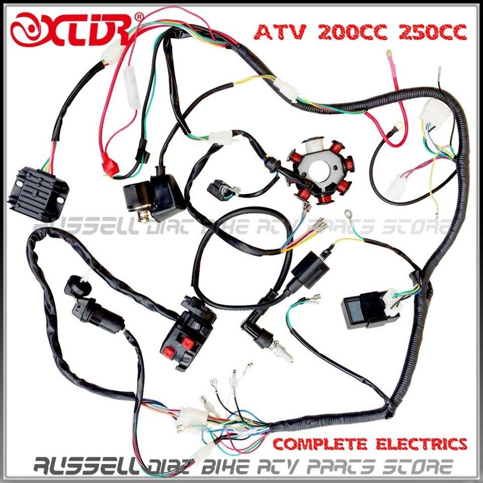 Wire Loom 150cc 200cc 250cc ,ignition coil,cdi Engine startor Zongshen  Lifan Ducar ATV QUAD|quad atv 49cc|quad settingatv quad 250cc - AliExpressAliExpress