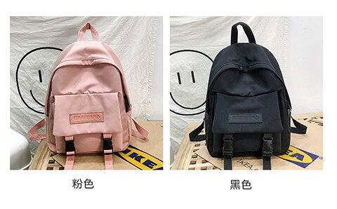 HTB1GGuUXuH2gK0jSZFEq6AqMpXa4 2019 Backpack Women Backpack Fashion Women Shoulder Bag solid color School Bag For Teenage Girl Children Backpacks Travel Bag