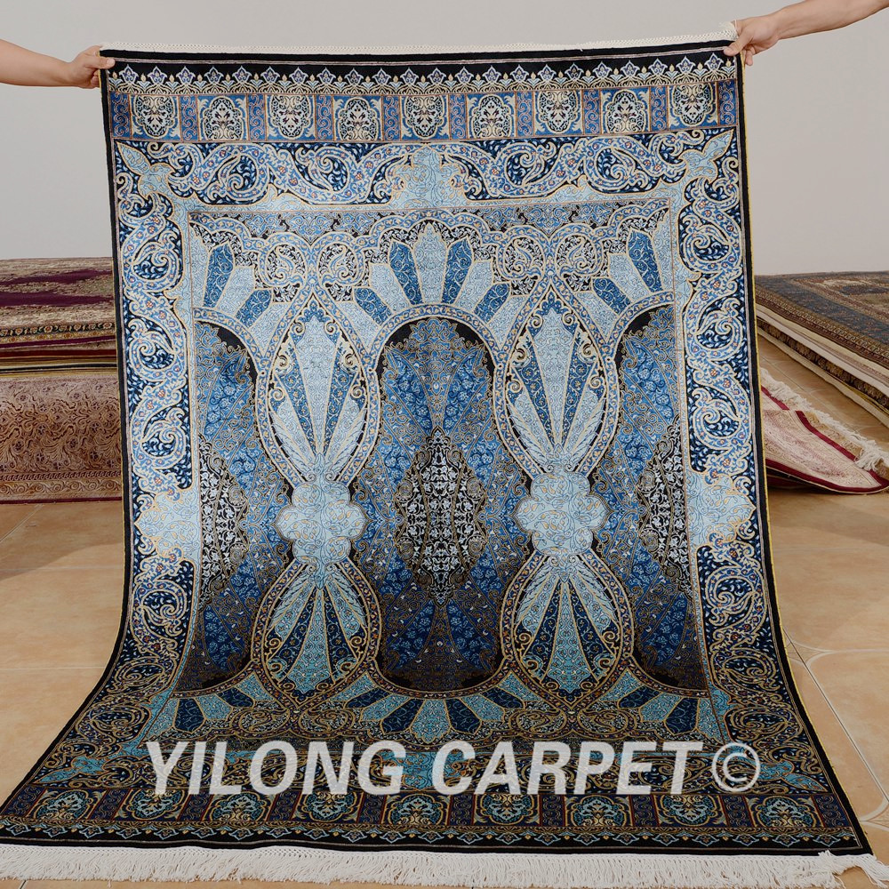 Yilong 4 X6 Handmade Turkish Carpet Ocean Blue Vantage Antique Persian Rugs Guide