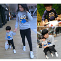 2016 Winter Family Matching Sweatshirt Minions Matching Mother Daughter Clothes Father Son Mom Daugther Cartoon Outfits