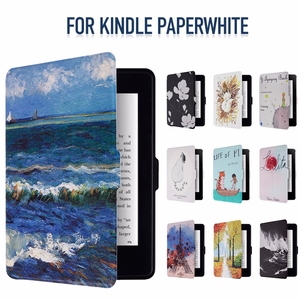 Smart Kindle Paperwhite Case Shell PU Leather Smart Cover Fit For Amazon Kindle Paperwhite1 2 3 [Auto Wake Up/Sleep Function] mdfundas flower animal pattern cover for amazon kindle paperwhite 1 2 3 case flip stand leather shell for kindle paperwhite 3