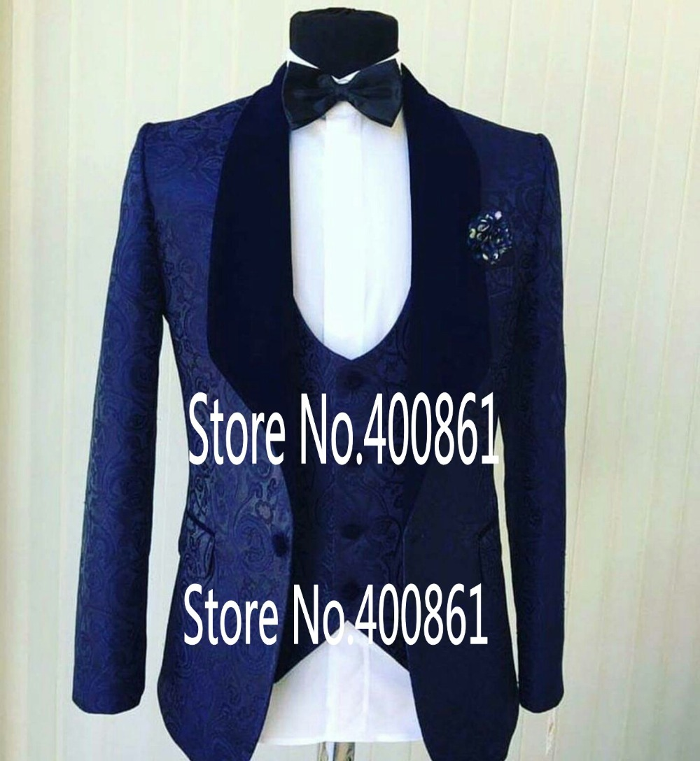 Fashionable Mens Dinner Party Prom Suits Groom Tuxedos Groomsmen Wedding Blazer Suits (Jacket+Pants+Vest+Tie) K:1871
