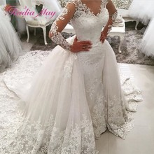 Radia May Long Sleeves Mermaid Wedding Dress