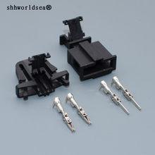 Shhworldsea 2 pins Laut Lautsprecher Sensor Stecker 1J0 971 972 3B0 972 712 Wasserdicht Weiblich Männlich Anschlüsse für Audi Skoda