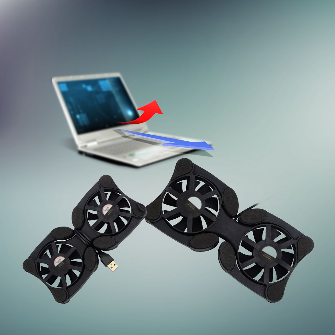 NOYOKERE 1pcs USB Port Mini Octopus Notebook Fan Cooler Cooling Pad For 7-15 inch Laptop ...