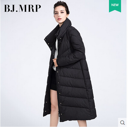 2015 New Hot Winter Thicken Warm Woman Down jacket Coat Parkas Outerwear Cloak Straight Loose Luxury High-end Long Plus Size L