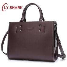 цена на LY.SHARK Women Messenger Bag Ladies' Genuine Leather Handbag Crossbody Bags For Women Green Shoulder Bag Female Fashion Tote Bag