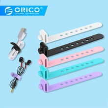 ORICO Silicone USB Cable Organizer Wire Winder Holder Earphone Mouse Cord Clip Protector For HDMI Aux Office Desktop Management