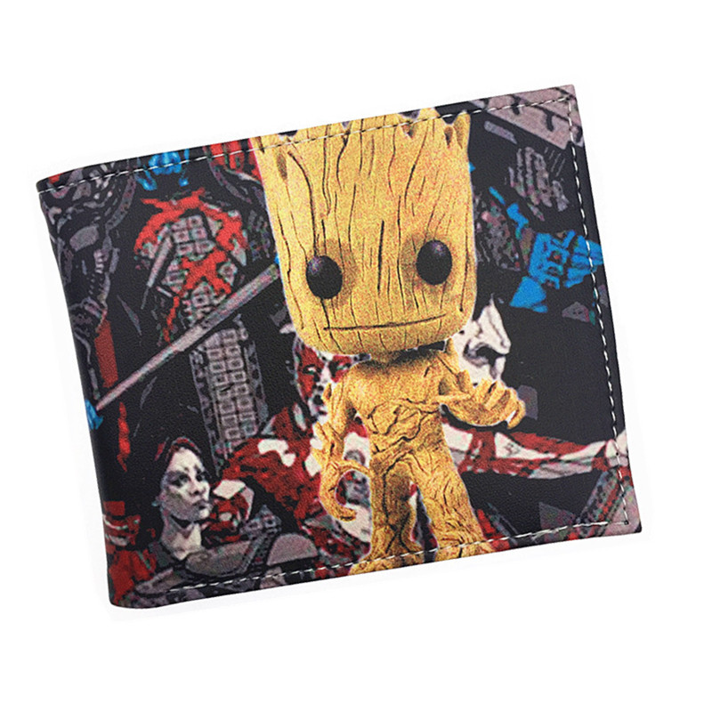 Free Shipping PU Short Wallet Guardians of The Galaxy Wonder Women Walking Dead Dragon Ball Z Bombshells Anime Purse the house of the dead