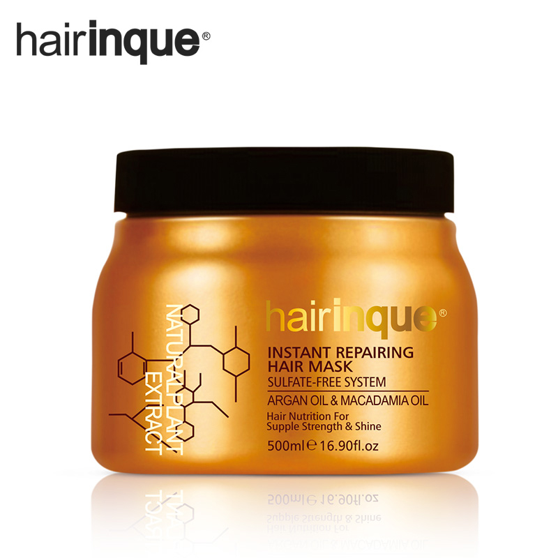 HAIRINQUE Sulfate-free system instant repairing hair mask Argan oil and Macadamia nut oil hair nutrition for supple strength масло kativa morocco argan oil nuspa масло