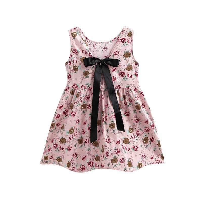 Venta caliente bebé las niñas vestido de verano flor vestidos de princesa para niña ropa de los niños vestidos de cumpleaños