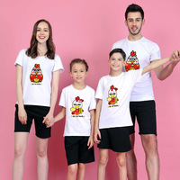 New 2017 Summer Wear Child Parenting Dress Family Dress Clothes T Pity One Home Three Mouth