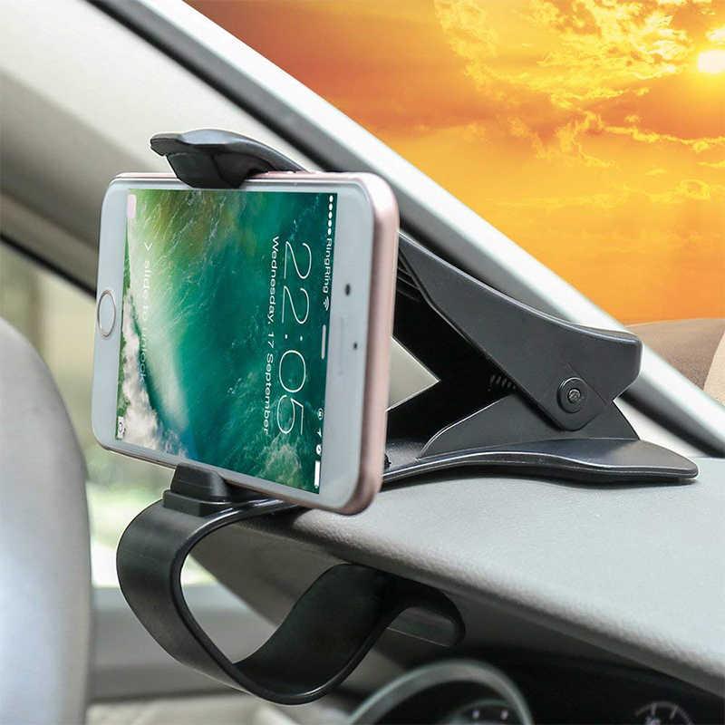 Soporte de GPS para teléfono de coche IKSNAIL, soporte para teléfono HUD GPS, cuna universal de cocodrilo para tablero de instrumentos, soporte de navegación para una conducción segura