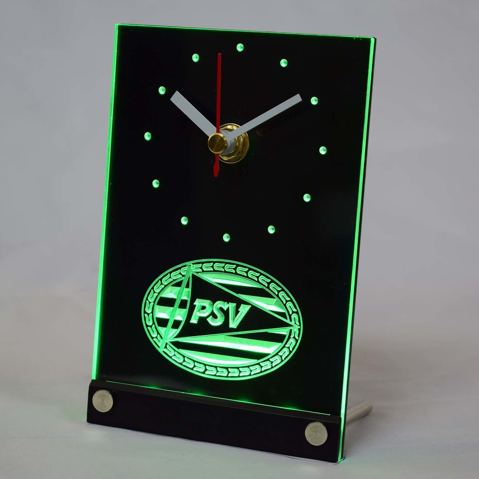 Tnc1010 PSV Eindhoven Sport Vereniging Dutch Eredivisie 3D LED Table Desk Clock
