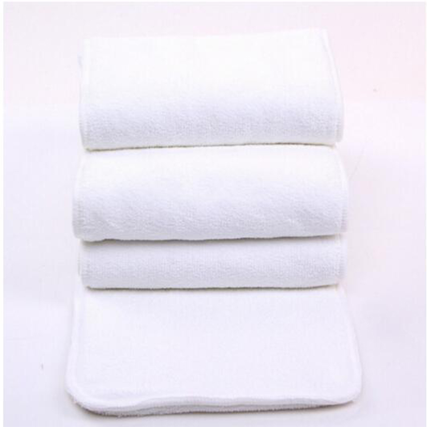 10PCS/LOT Adult Diaper Inserts Incontinence Disable Washable Reusable Cloth Nappy Big Large Microfiber 4 Layers 20cmx49cm D5