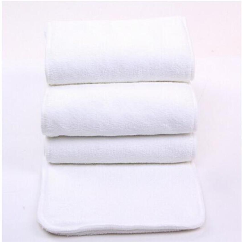 10PCS/LOT Adult Diaper Inserts Incontinence Disable Washable Reusable Cloth Nappy Big Large Microfiber 4 Layers 20cmx49cm D5