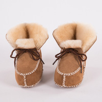 Baby Winter Boots Shoes Fur Sheepskin Genuine Leather Infants Warm Real Fur Wool First Walkers Newborn Girls Boys Booties