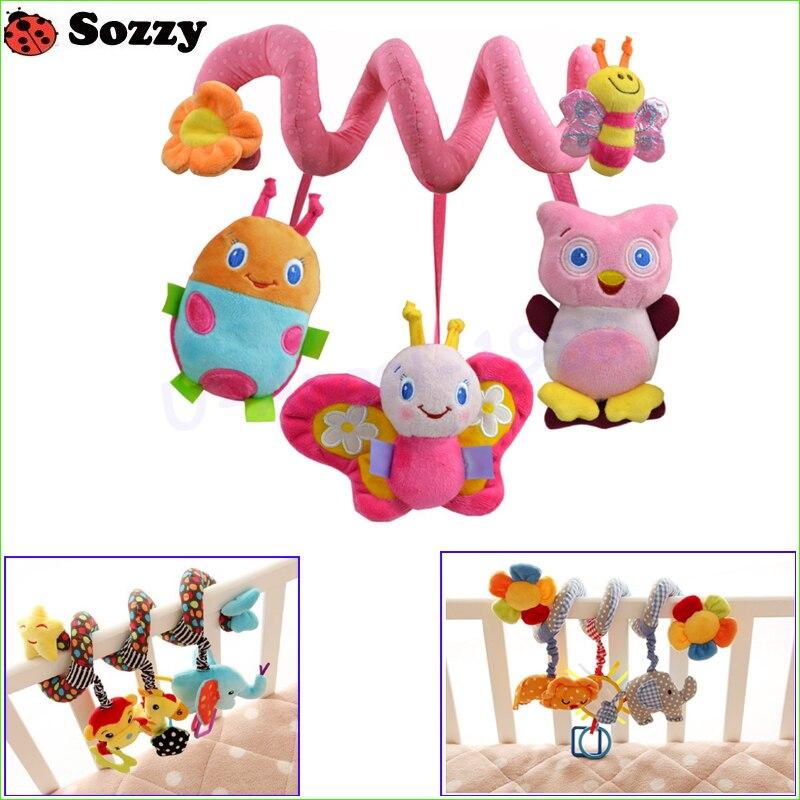 1 pcs Sozzy Musical Étoiles Multifonctionnel Voiture lit Lit Suspendu Cloche Bébé jouets Éducatifs Hochets Jouets pour Enfants