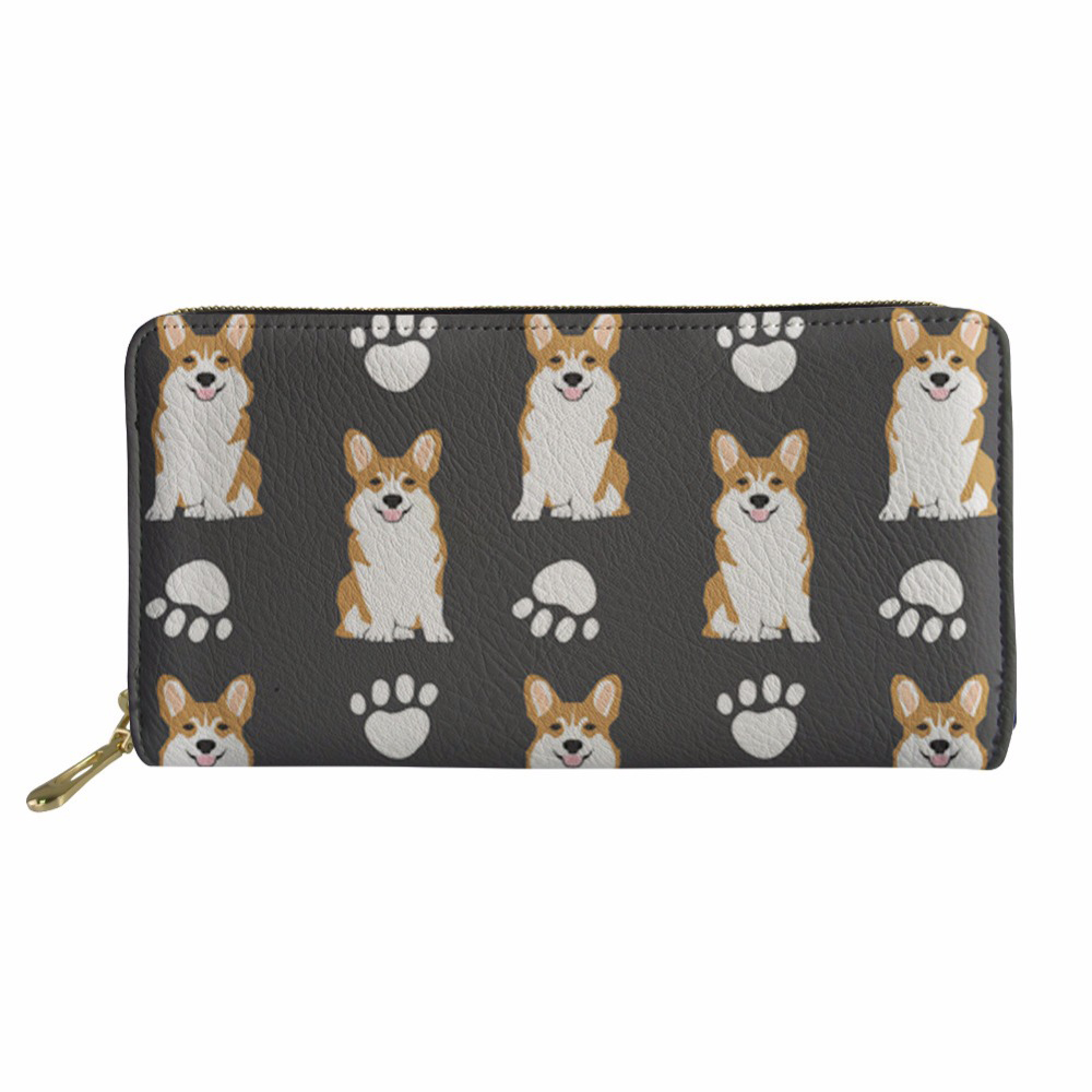 Luggage & Bags Wallets Women Corgi Printing Long Phone Card Purse&wallet Female Fashion Cluth Cash Holder Coin Pocket For Girls Soft And Light