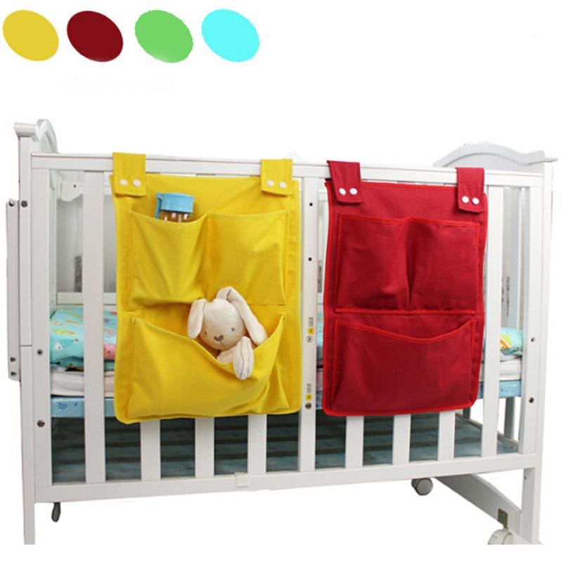 Cartoon Rooms Nursery Hanging Storage Bag Diaper Pocket For Newborn Crib Bedding Set Baby Cot Bed Crib Organizer Toy 45*35cm
