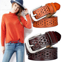 New Women Fashion Wide Genuine Leather Belt Woman Luxury Jeans Belts Female Top Quality Straps Femme