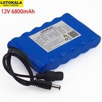 LIitoKala 12 V 6800 Mah портативный супер 18650 перезаряжаемый комплект литий-ионный батарей Емкость CCTV Cam Монитор DC 12,6 V 6.8A