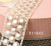 Wholesale 4cm White Or Ivory Pearl Chain Connection Pearls For Garment Accessories Or Home Decoration 5m