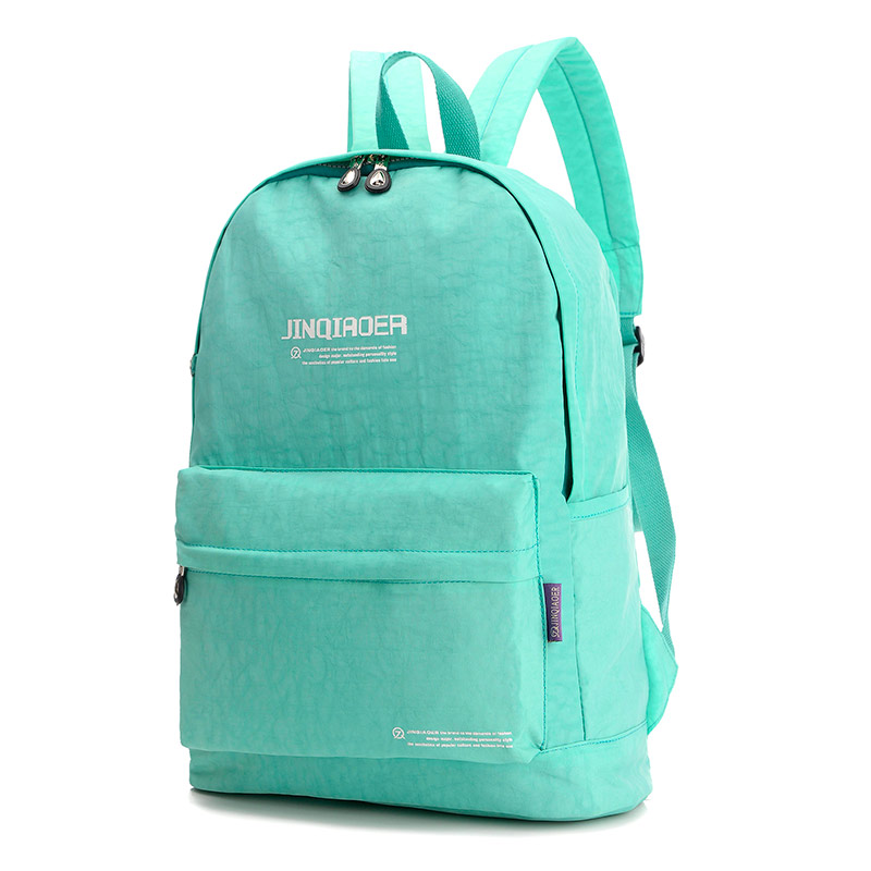 backpacking backpack Waterproof Nylon Zipper backpack women Female Kip Style Solid Color Casual Travel brand backpack