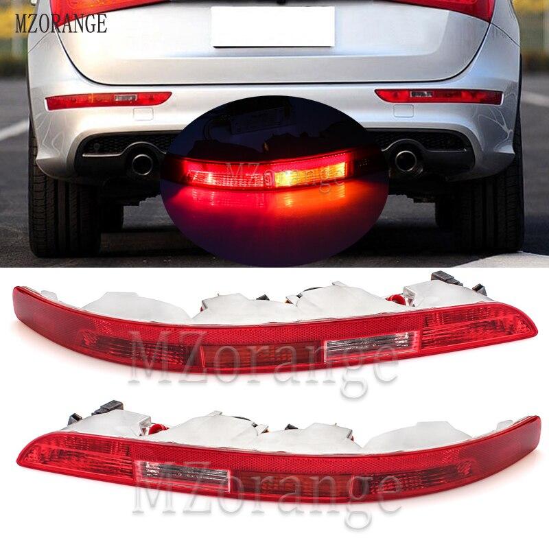 MZORANGE Rear Bumper Reflector Left/Right Side Tail Light Lower Tail Lamp Stop Brake Light for Audi Q5 2.0T 2009-2015