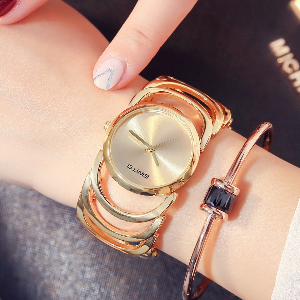 GIMTO 2017 New Fashion Brand Women Watches Steel Dress Bracelet Gold Quartz Girls Ladies Wrist Watch Luxury Female Clock relogio nakzen brand luxury gold bracelet women quartz watch ladies fashion dress jewelry gifts wristwatch for girls female clock 2018