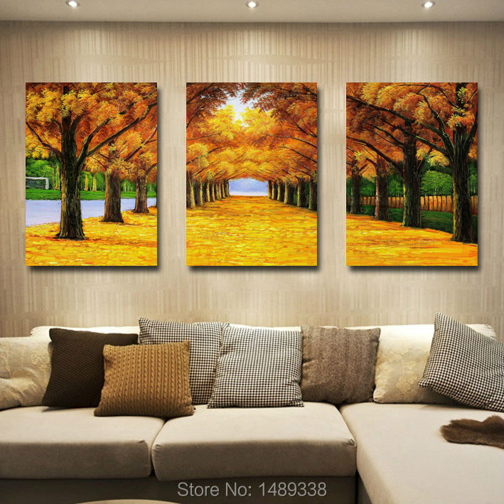 Wall Art For Garden Rooms : Hot sell autumn ry oil painting on canvas wall art