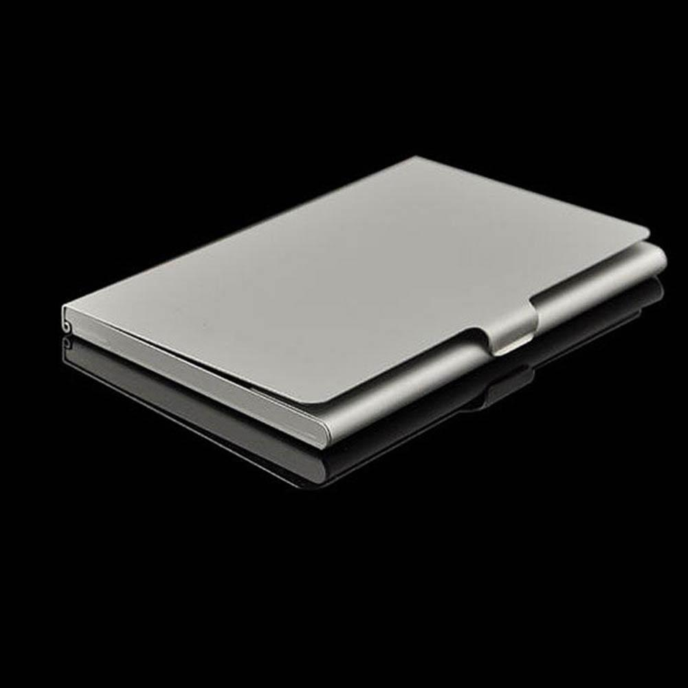 Professional Business Name Card Holder Slim Stainless Steel Card Holder Metal Credit Card Wallet