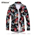 Men 's Top 2016 Brand Design Big Size long Sleeve Mens Dress Shirts Luxury Stylish New Flower Casual Men Shirt Spring Summer