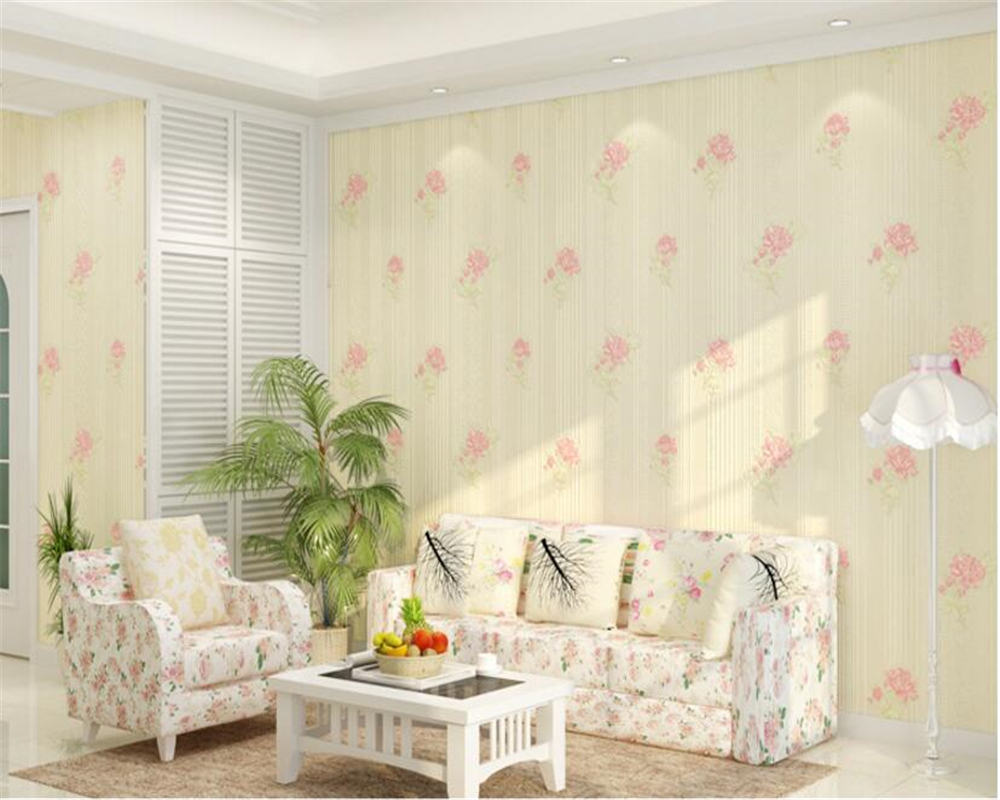 beibehang papel de parede Stereo Simple Pastoral Floral Nonwovens Wallpaper Warmer Bedroom Living Room Background Wall tapety beibehang papel de parede pastoral environmental nonwovens wall paper warm small floral living room bedroom background wallpaper