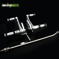 BIKINGBOY Aluminium CNC Billet Footpegs Forward Controls Foot Rests for Honda VT600 VT 600 Shadow 99 2007 06 05 04 03 02 01 00