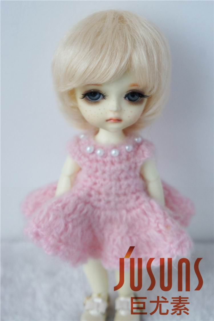 JD076 1/8 1/6 Fashion BJD mohair doll wigs 5-6inch 6-7inch Lati Boy short cut wig Tiny doll hair Resin doll accessories jd199 1 8 1 6 cute lati doll wigs size 5 6 inch 6 7 inch fashion synthetic mohair bjd wig twin pony wig doll accessories