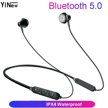Bluetooth 5.0 Earphone Wireless Bluetooth Headphone earpieces Waterproof Sport wireless Headset+Mic for iPhone Android xiaomi original xiaomi bluetooth collar earphone sport wireless bluetooth headset in ear magnetic mic play dual dynamic headphone