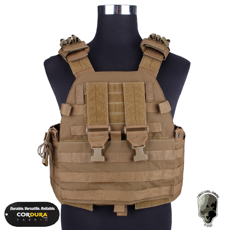 EG Assault Plate Carrier Military Vest Airsoft Wargame Molle Combat Gear Camouflage Coyote Brown mil spec military lt6094k coyote brown cb plate carrier combat molle tactical vest army military combat vests