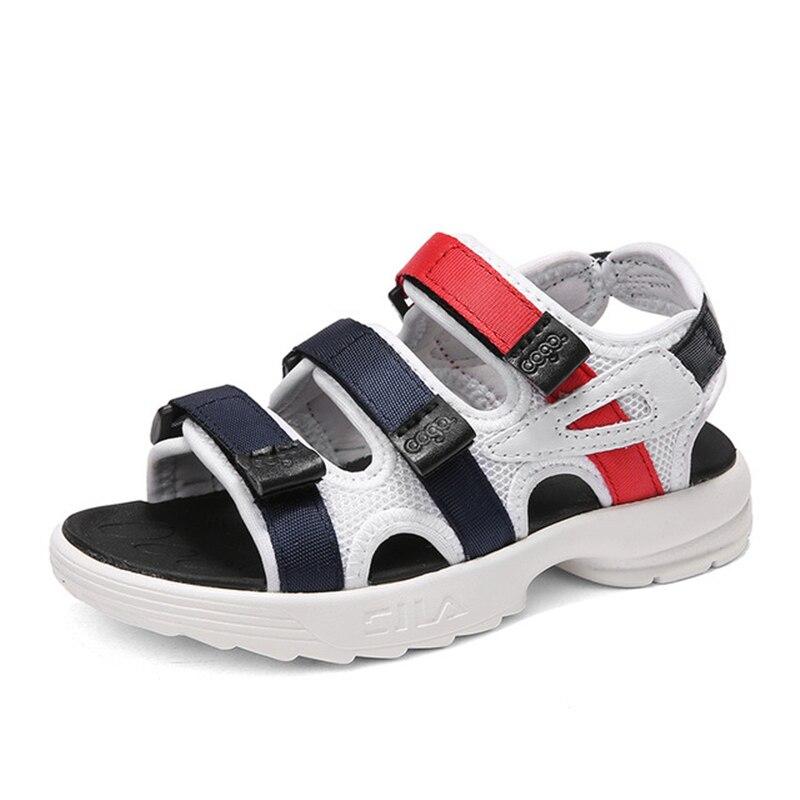 2018 Boys Open Toe Sandals Kids Beach Sandals Children Summer Platform Shoes  Teen Hook   Loop Soft Bottom Shoes D0046-in Sandals from Mother   Kids on  ... 48285753cb28