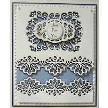 Retro Lotus Flower Border Metal Cutting Dies New 2019 Stencil for DIY Scrapbooking Greeting Cards Making Decorative Crafts