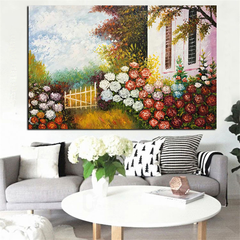 popular acrylic flowers painting-buy cheap acrylic flowers