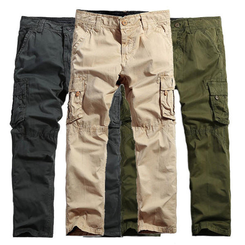 SWAT Military Tactical Pants Men Large Multi Pocket Army Cargo Pants For Men 2018 Autumn Casual Cotton Camouflage Trousers 40